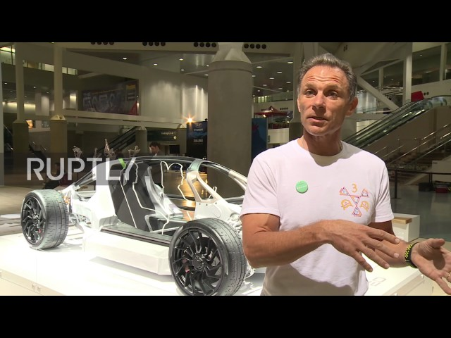 USA: World's first highway-safe, 3D-printed supercar showcased in LA