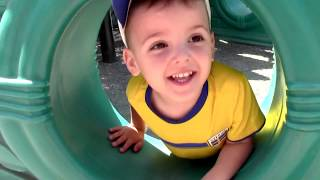 Vania and Mania play Outdoor Playground for kids