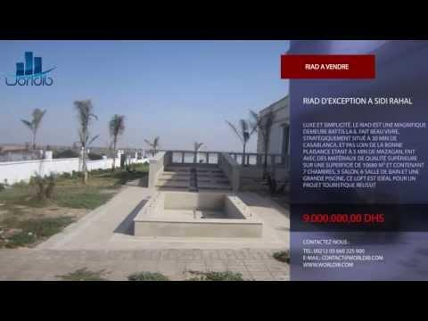 RIAD D'EXCEPTION A SIDI RAHAL --- Agence Immobilière MAROC --- WORLDIB