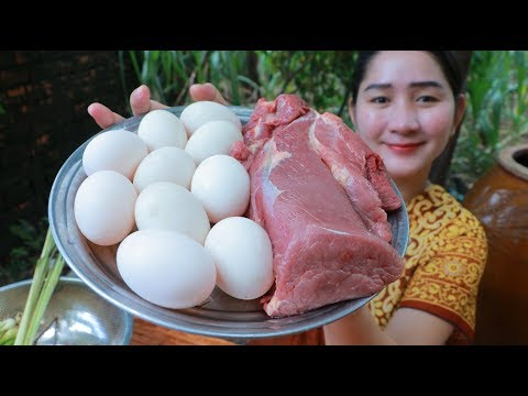 Tasty Beef Cooking Duck Egg Soup – Yummy Beef Sour Soup Recipe – Cooking With Sros
