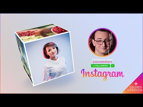 instagram promo cube gallery after effects template youtube. Black Bedroom Furniture Sets. Home Design Ideas