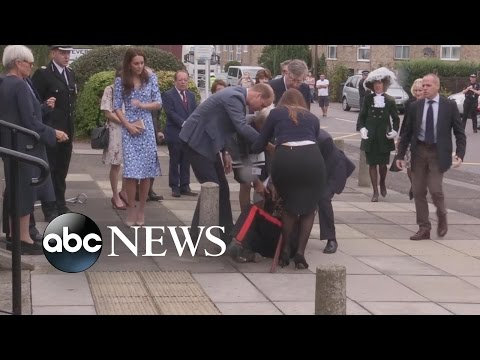 Prince William Rushes to Aid Fallen Dignitary