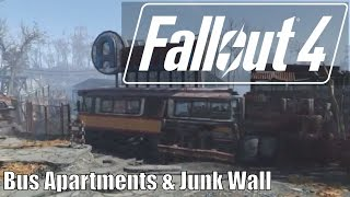 Fallout 4 - Bus Apartments and Junk Wall