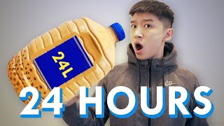 DRINKING 35 LARGE BOBAS IN 24 HOURS (BUBBLE TEA ONLY CHALLENGE)