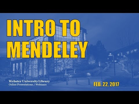 Mendeley 101: An Introduction to Citation Management