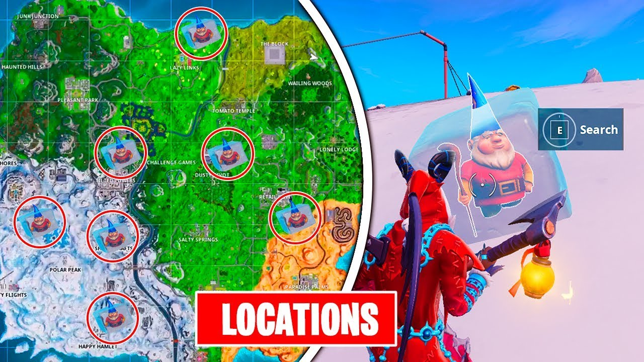 Search Chilly Gnomes Locations Fortnite Week 6