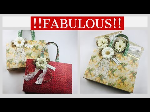 CUSTOM GIFT BAGS...YESSSS!!!  Perfect Craft Fair/Gift Packaging {{FITS DOLLAR STORE WRITING TABLET}}