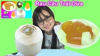 Hướng Dẫn Làm Rau Câu Trong Trái Dừa [Bí Đỏ] Bé Học Nấu Ăn Giúp Mẹ - Bé Học Sắc Màu/ Coconut Jelly