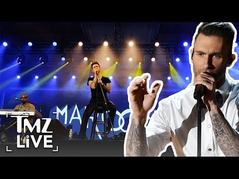 Fan Rushes Adam Levine During Maroon 5 Concert | TMZ Live