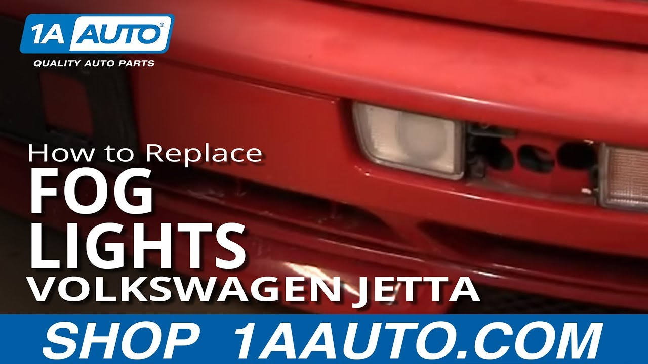 98 Jetta Fuse Box Diagram How To Replace Fog Lights 93 99 Volkswagen Jetta Youtube