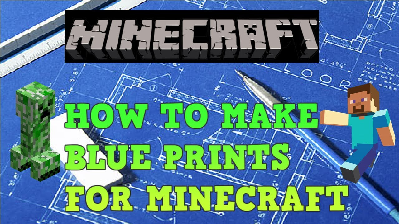 How to make blueprints for minecraft youtube how to make blueprints for minecraft malvernweather Choice Image