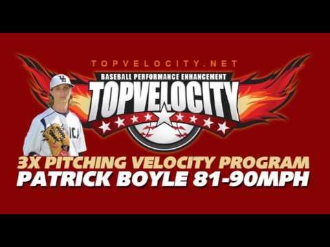 Patrick Boyle 81-90mph On The 3X Pitching Velocity Program