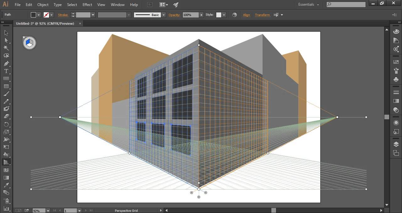 Perspectiva illustrator youtube for Programa para hacer edificios en 3d