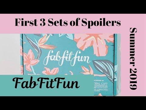 FabFitFun | Summer 2019 | Spoilers / First 3 Sets thumbnail