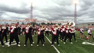 Bellevue High School Marching Band takes the field