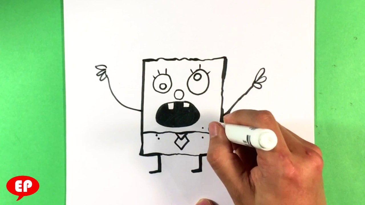How To Draw Spongebob Squarepants Doodlebob Step By Step For