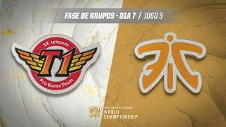 Mundial 2019: Fase de Grupos - Dia 7 | SK Telecom T1 x Fnatic (Jogo 3)