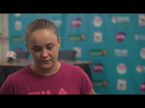 Ash Barty post match interview (1R) | Brisbane International 2017