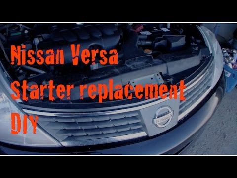 DIY Nissan Versa Starter Replacement YouTube