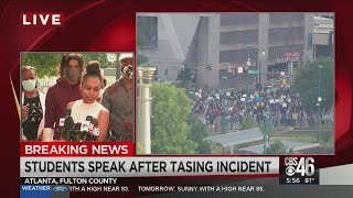 AUC students speak out after being tased by APD
