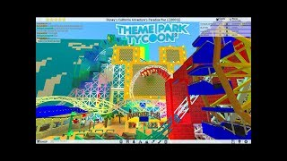 ROBLOX: California Screamin' recreation at DCA in Theme Park Tycoon 2 Both Day and Night 2001 - 2007