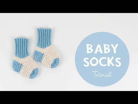 Super Easy Crochet Tutorial For Baby Socks | Croby Patterns