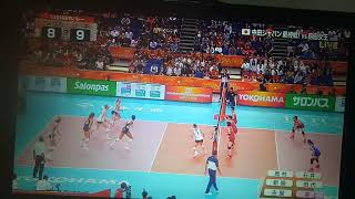 2018 Volleyball Women's World Championship- Japan vs USA set3 part 1