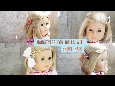 HAIRSTYLES FOR AMERICAN GIRL DOLLS WITH SHORT HAIR! ~ VLOGMAS DAY 4