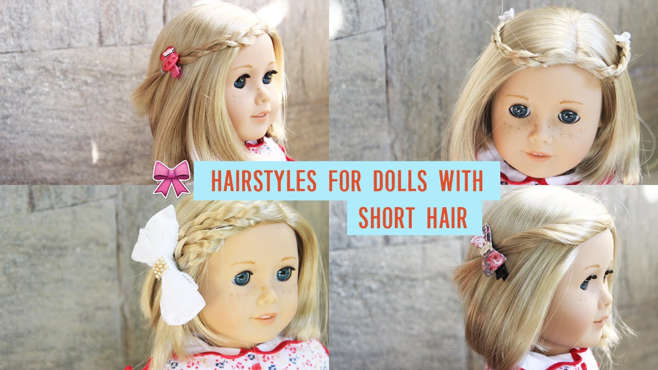 HAIRSTYLES FOR AMERICAN GIRL DOLLS WITH SHORT HAIR! VLOGMAS DAY