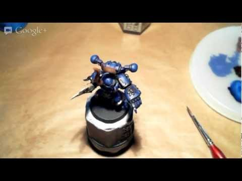 Live Chaos Space Marine painting
