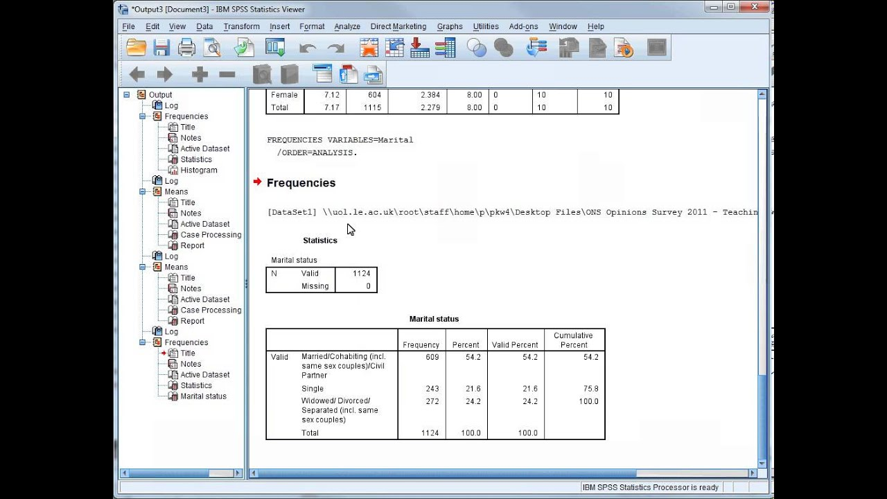 SPSS Tutorial 11 - Comparing Means - Interpretation of ...
