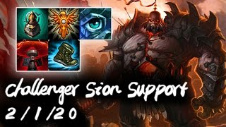 Challenger Sion Support vs Nautilus | Korea High Elo Replays