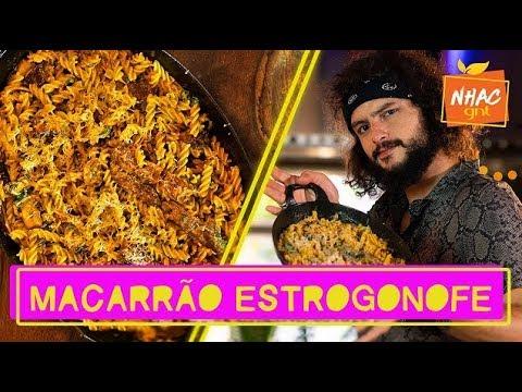 Macarrão com molho de estrogonofe de carne: aprenda a fazer prato DELICIOSO  Mohamad no Nhac