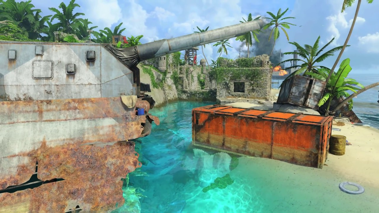 Call of Duty®: Black Ops 4 – Contraband - Surveillance of an international arms smuggling operation has uncovered this shipping hub on a remote, uncharted island off the coast of Colombia.