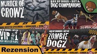 Zombicide - Zombie-Hunde, Mordskrähen, Very Infected People, Lost Survivors - Review