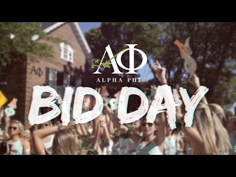 Alpha Phi Wisconsin - Bid Day 2015