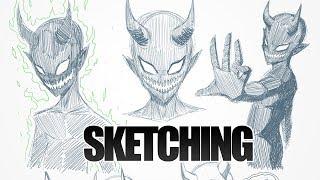 SKETCHING - Demon Character