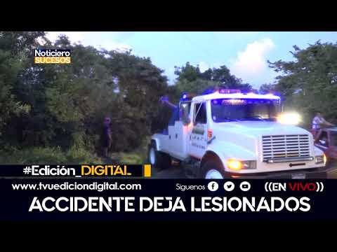 Trágico accidente deja ocho lesionados