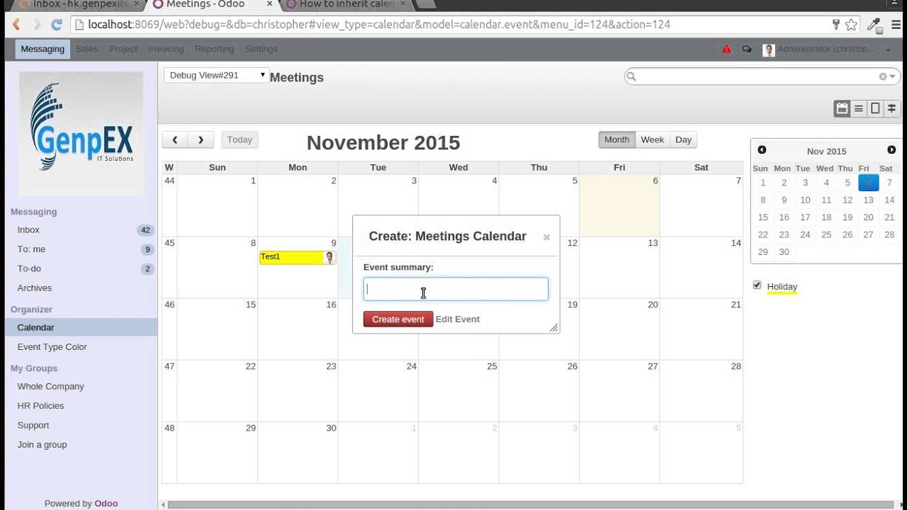 Event Type Function In Odoo Calendar Module - YouTube