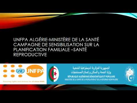 UNFPA Algérie-Ministère de la Santé campagne de sensibilisation sur la planification familiale