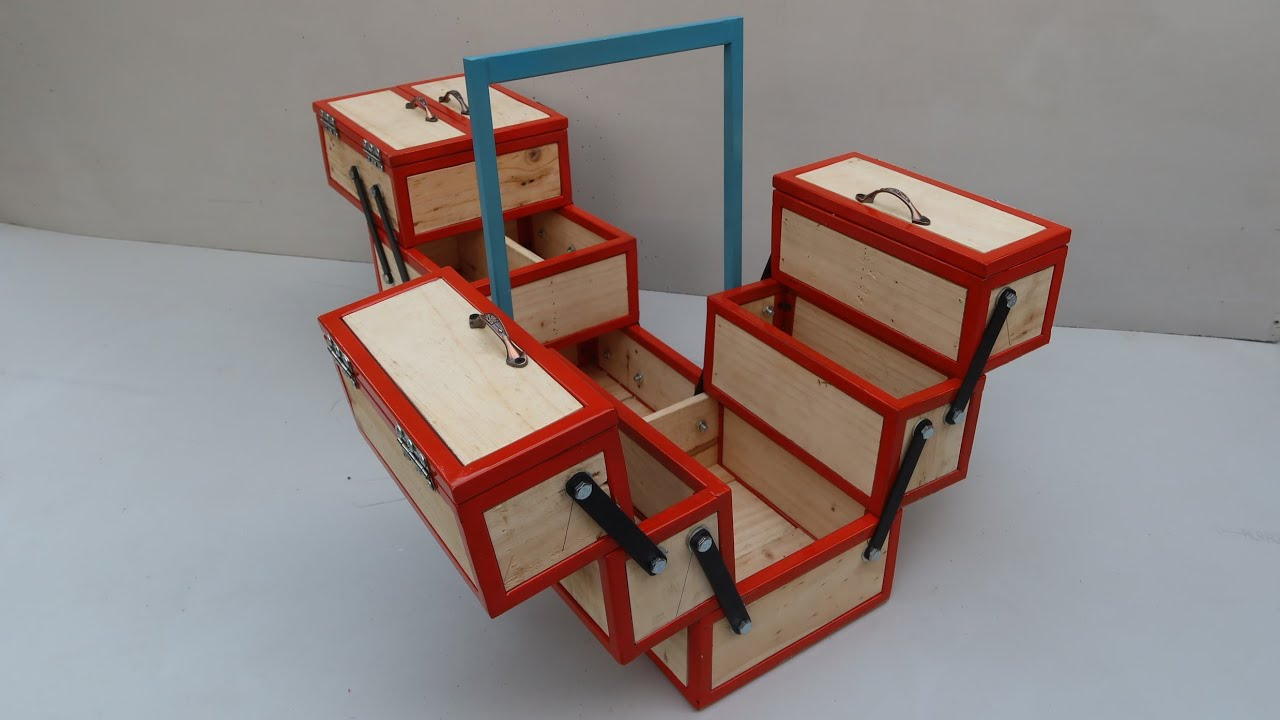 Download Make An Amazing Toolbox From Pallet and Scrap | Homemade Smart and Versatile Toolbox