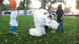 Yeti gives hugs - funny abominable snowman halloween costume