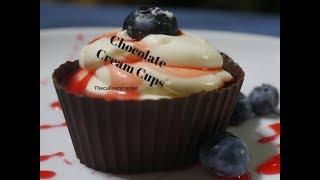 Creamy  Chocolate Cups (Simple dessert)