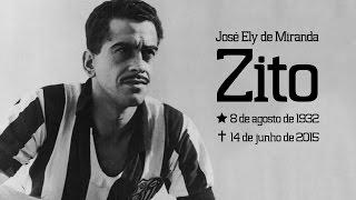 Elenco do Santos FC presta homenagem ao ídolo Zito