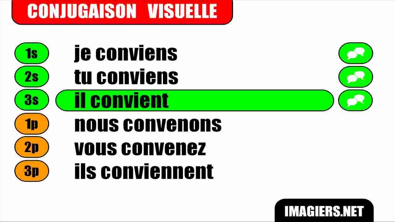 Conjugaison Indicatif Present Verbe Convenir Youtube