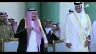 Saudi's King Salman's Funny Dance on Qatar