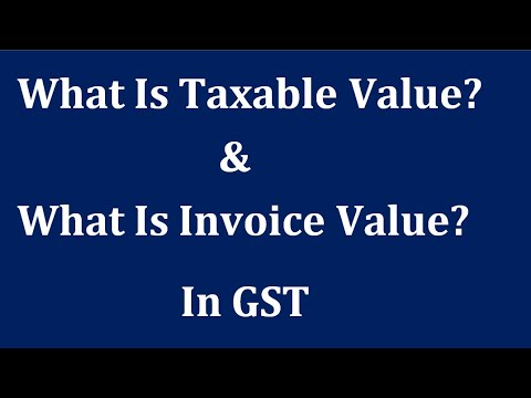 tally :  taxable value or invoice value kya hoti he