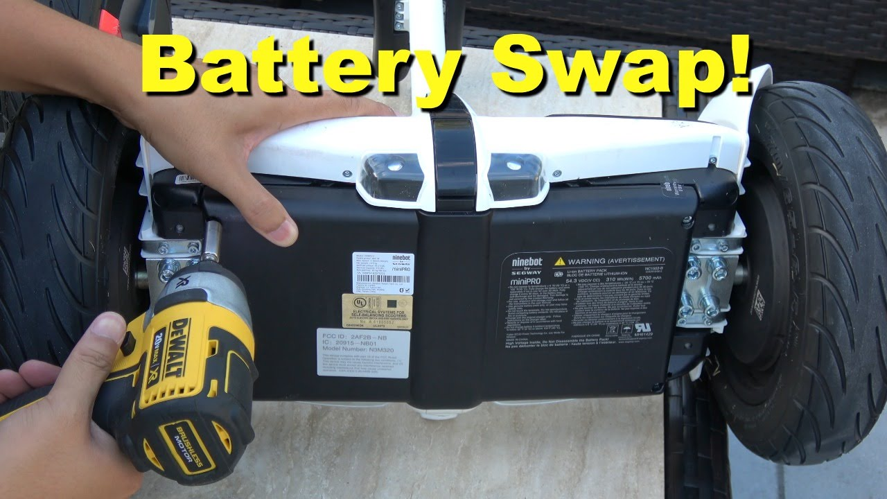 Segway miniPRO Battery Swap with Ninebot mini - View of Internal and MORE!  (4K)