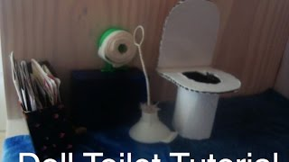 Easy How to Make a Doll Toilet Tutorial