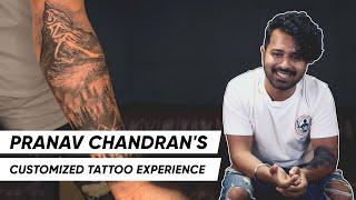 Pranav Chandran   Customized Tattoo at Aliens   Celebrity Testimonial